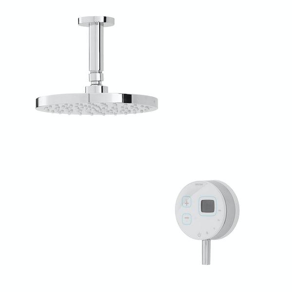 Bristan Artisan Evo digital shower with fixed head white