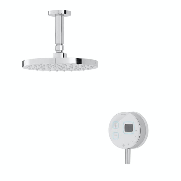 Bristan Artisan Evo digital shower with fixed head white