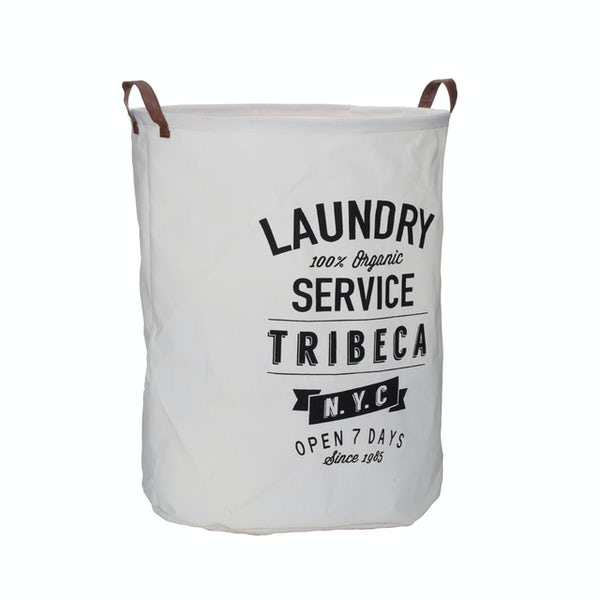Accents Manhatten cream and black laundry hamper