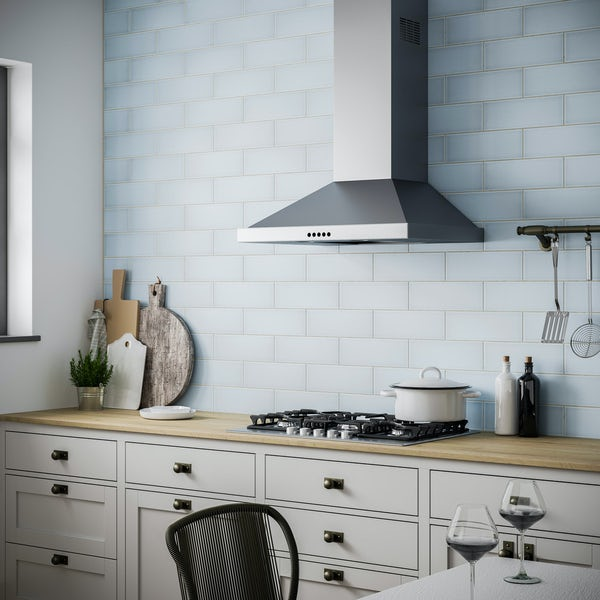 Clermont duck egg blue flat matt wall tile 100mm x 300mm