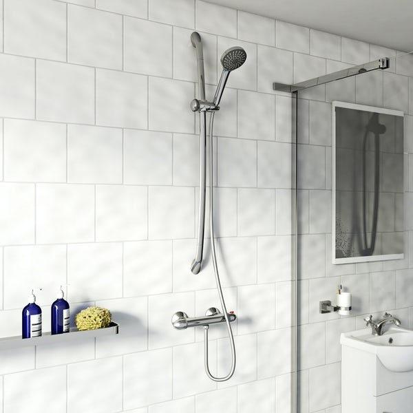 Eden economy shower bar valve with slider rail kit