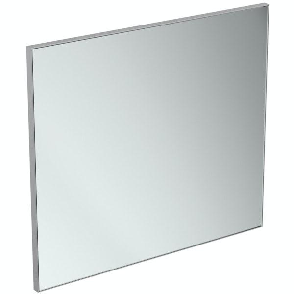 Ideal Standard framed bathroom mirror 800 x 700mm