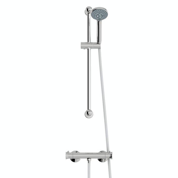 Clarity slider rail mixer shower
