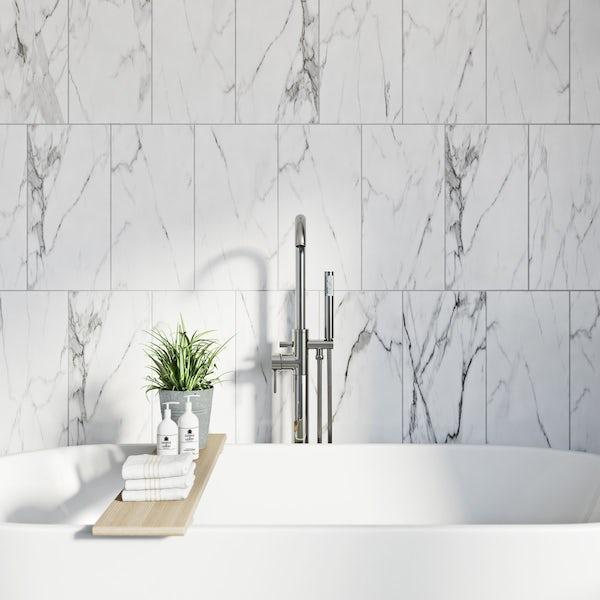British Ceramic Tile Arctic white matt tile 248mm x 498mm