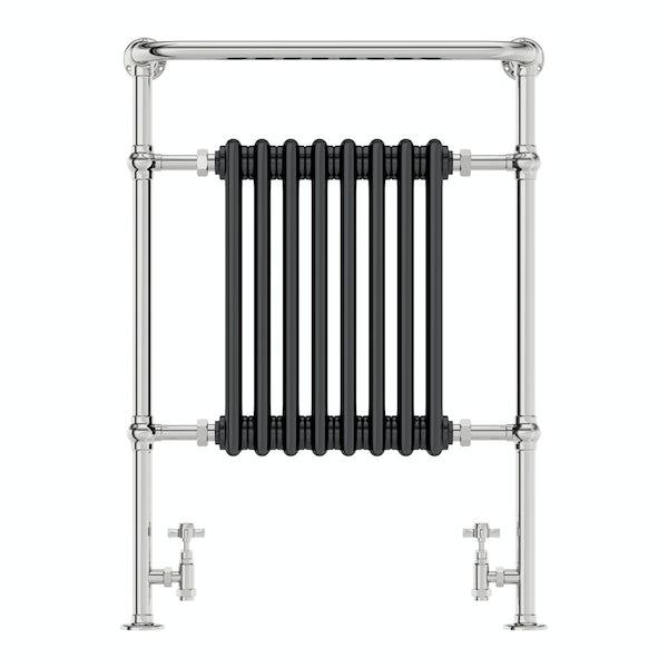 The Bath Co. Dulwich black traditional radiator 952 x 659