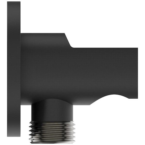 Ideal Standard Idealrain silk black round shower handset elbow bracket