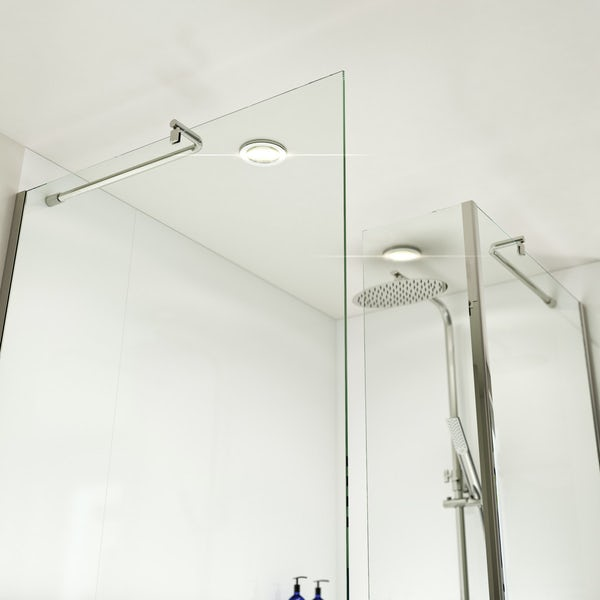 Orchard 6mm walk in shower enclosure pack with walk in shower tray