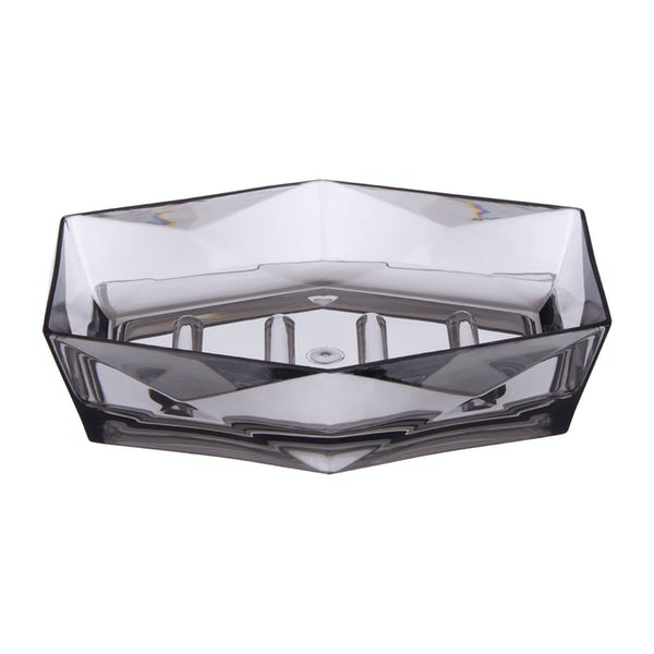 Accents Dow grey acrylic soap dish
