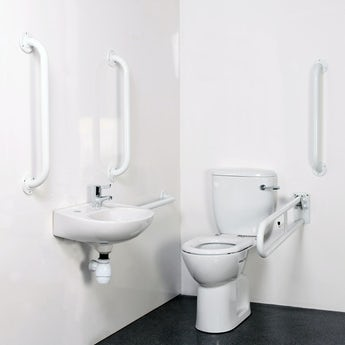 Bristan DOCM pack with TMV3 basin mixer tap white