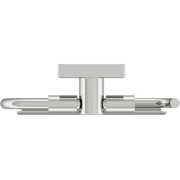 Accents square plate contemporary toilet roll holder with cover