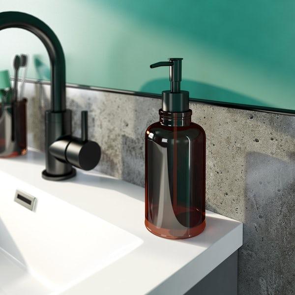 Accents vintage glass soap dispenser
