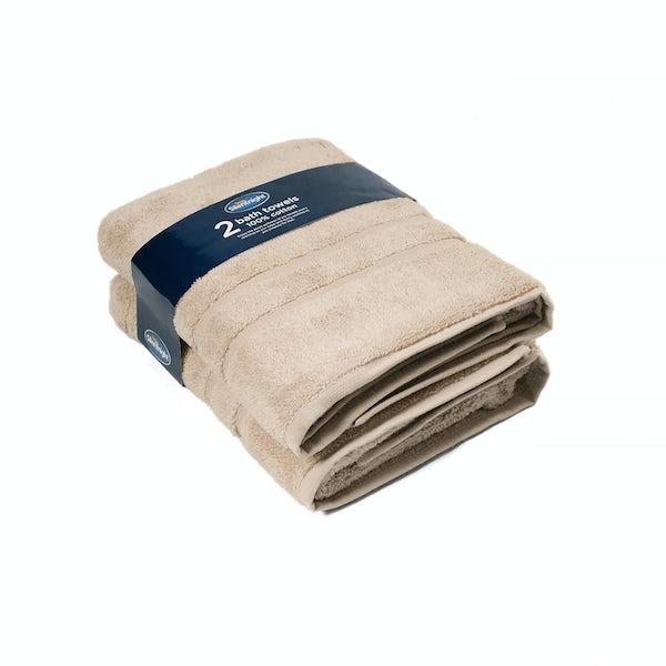 Silentnight Set of 2 Stone Bath Towel