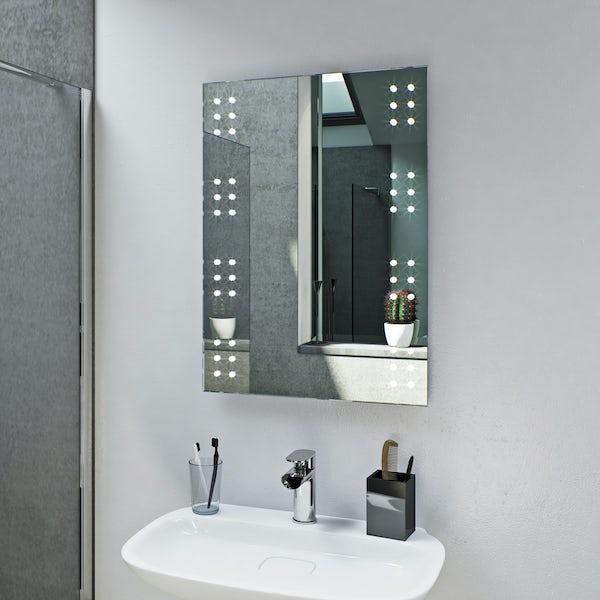 Mode Radiant rectangular LED mirror with demister