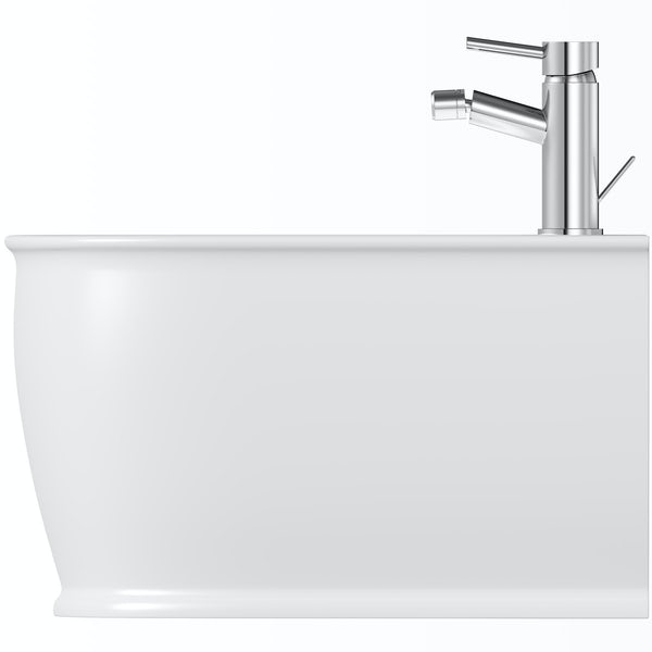 The Bath Co. Beaumont wall hung bidet with fixings