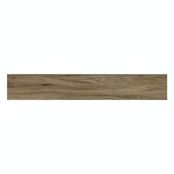 Hardwick coffee wood effect matt wall and floor tile 150mm x 900mm