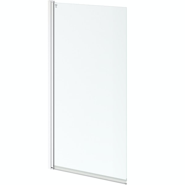 8mm square top left handed hinged bath screen