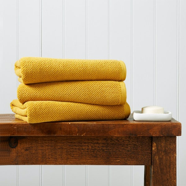 Christy Brixton saffron bath towel