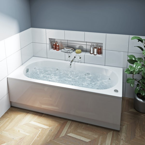 Mode Richmond single end 12 jet whirlpool bath 1700 x 750