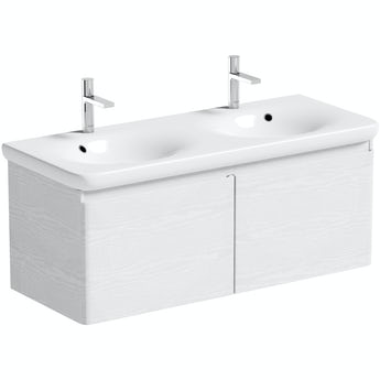 Mode Heath white LED wall hung vanity unit and basin 1200mm