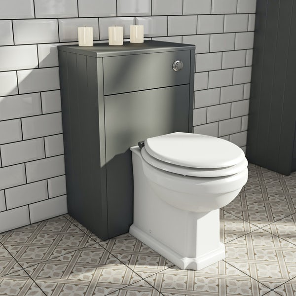 The Bath Co Dulwich Stone Grey Back To Wall Unit And