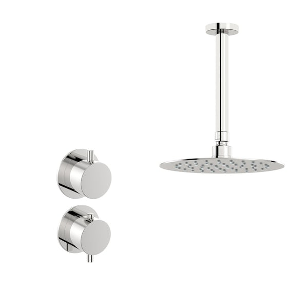 Mode Hardy thermostatic shower valve with ceiling shower set