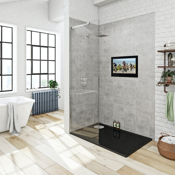 ProofVision 24 inch black bathroom TV