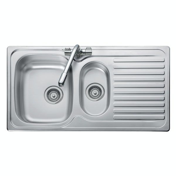 Leisure Linear 1.5 bowl reversible kitchen sink