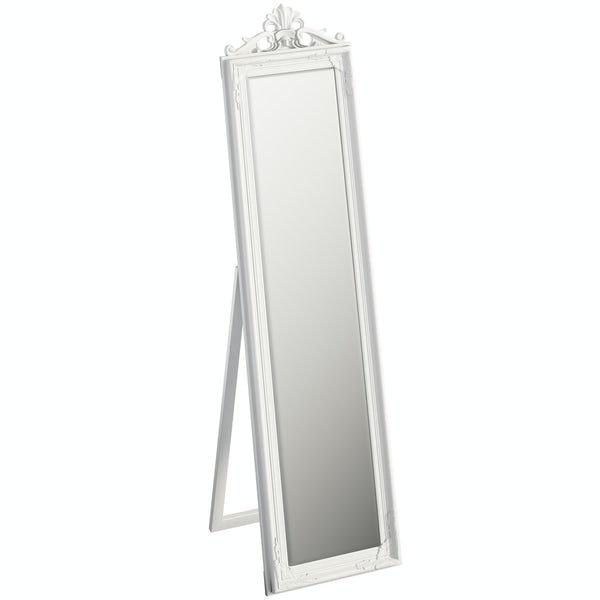 Innova Kensington white cheval mirror