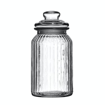 Accents Ribbed glass 1300ml storage jar