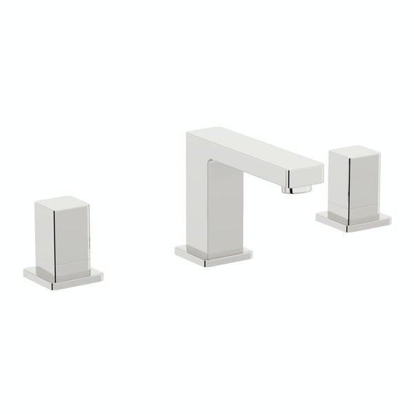Mode Austin 3 hole basin mixer tap offer pack