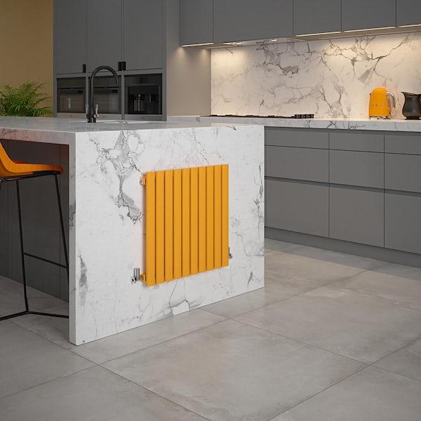 The Tap Factory Vibrance english mustard vertical panel radiator
