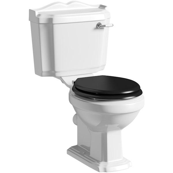 The Bath Co. Winchester black freestanding shower bath suite