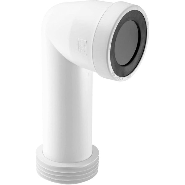 McAlpine 90° bend adjustable length extended inlet rigid pan connector