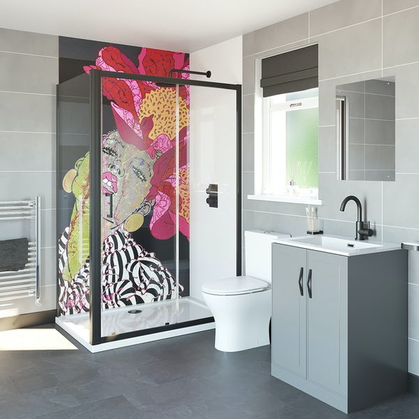 Louise Dear There Are No Rules shower enclosure suite 1200 x 800mm