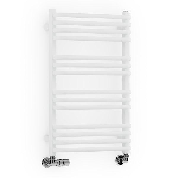 Terma Alex white designer towel rail