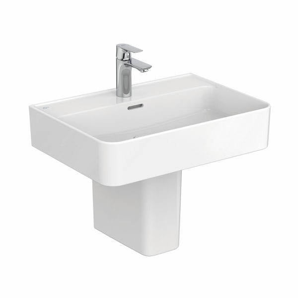 Ideal Standard Strada II 1 tap hole semi pedestal basin 600mm