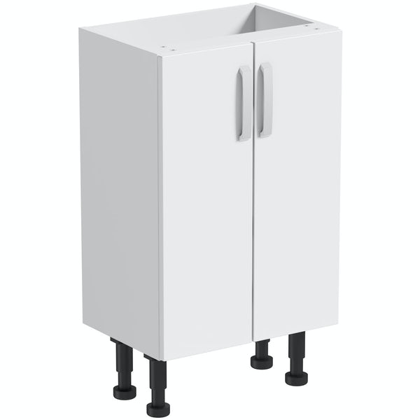 Mode Nouvel gloss white floor cabinet 500mm