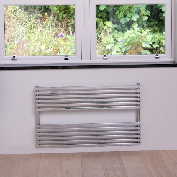 The Heating Co. Rodos chrome heated towel rail 600 x 1000