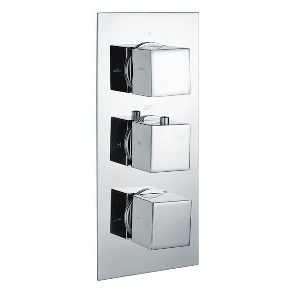 Kirke Connect triple thermostatic shower valve with diverter