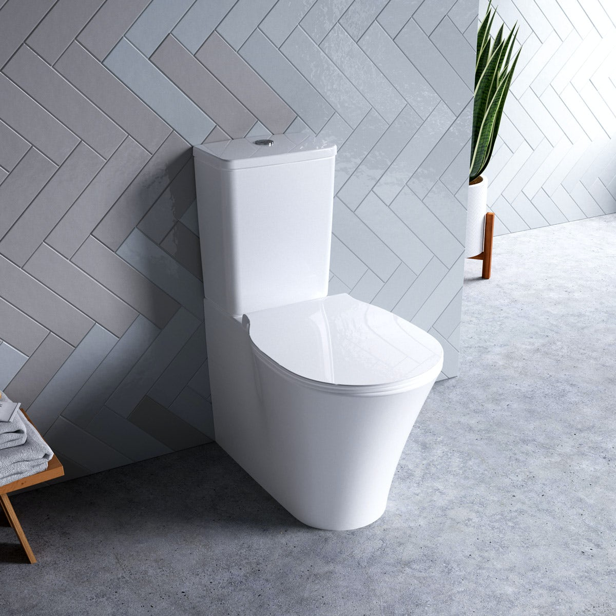 Ideal Standard Concept Air Close Coupled Toilet With Soft