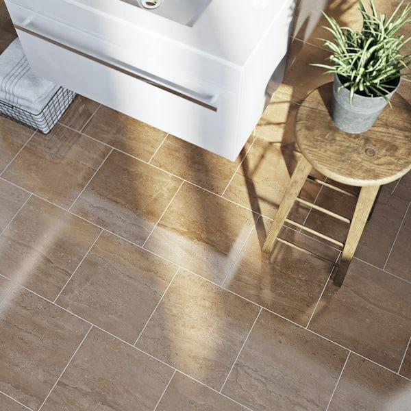 British Ceramic Tile Lux sand beige gloss tile 331mm x 331mm