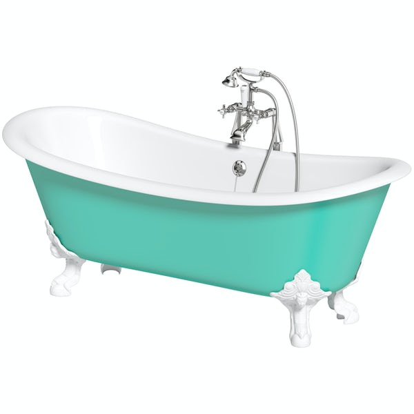 Artist Collection Green Bee traditional freestanding bath & tap pack
