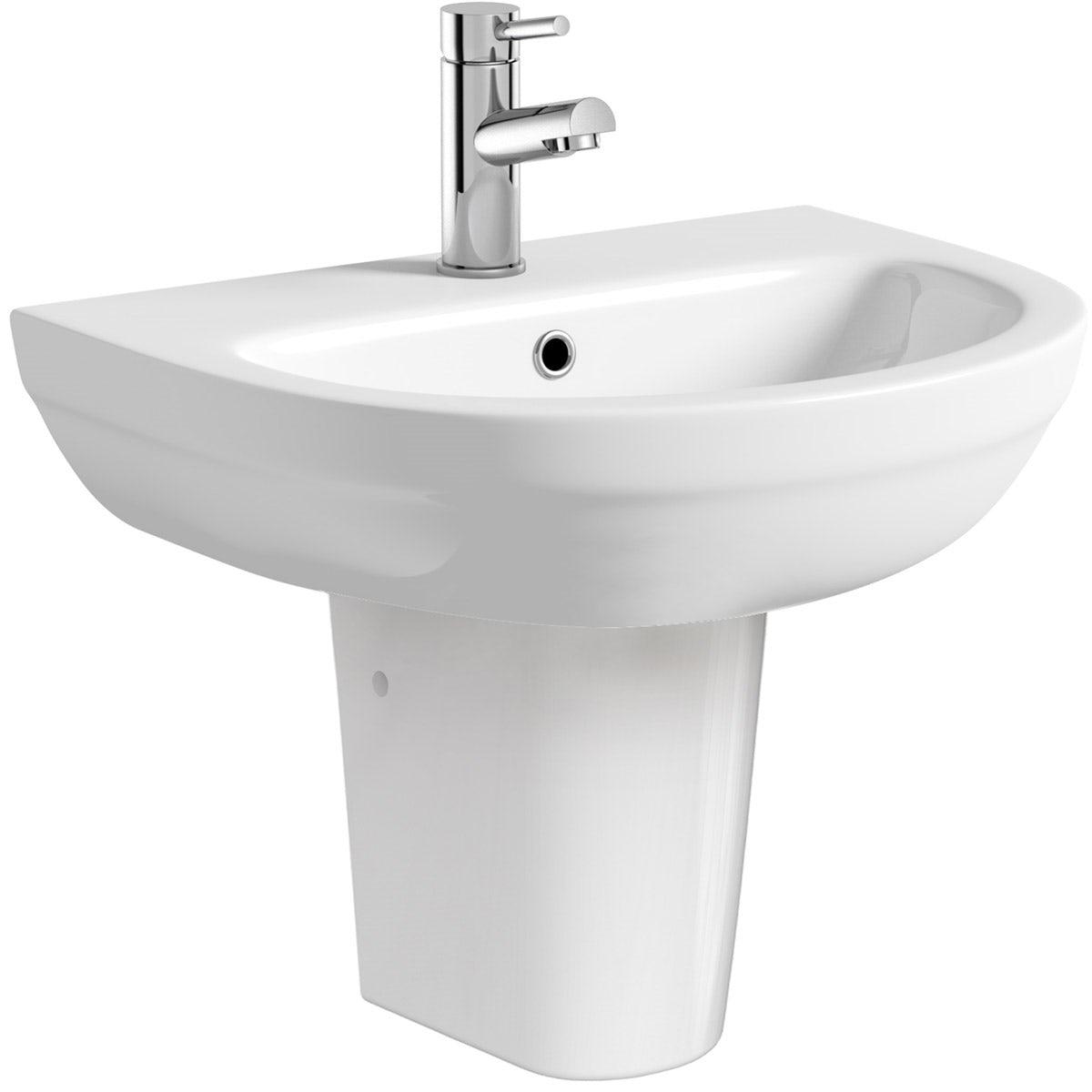 Orchard Balance 1 tap hole semi pedestal basin 540mm