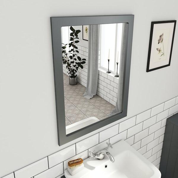 The Bath Co. Dulwich stone grey mirror 600mm