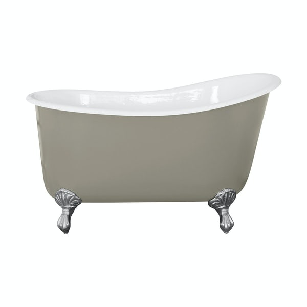 The Bath Co. Berkeley misted green cast iron bath