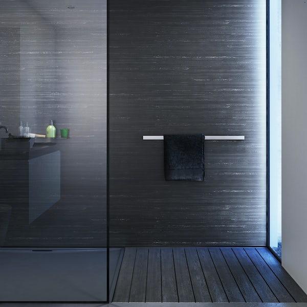 Showerwall Black Glacial waterproof shower wall panel
