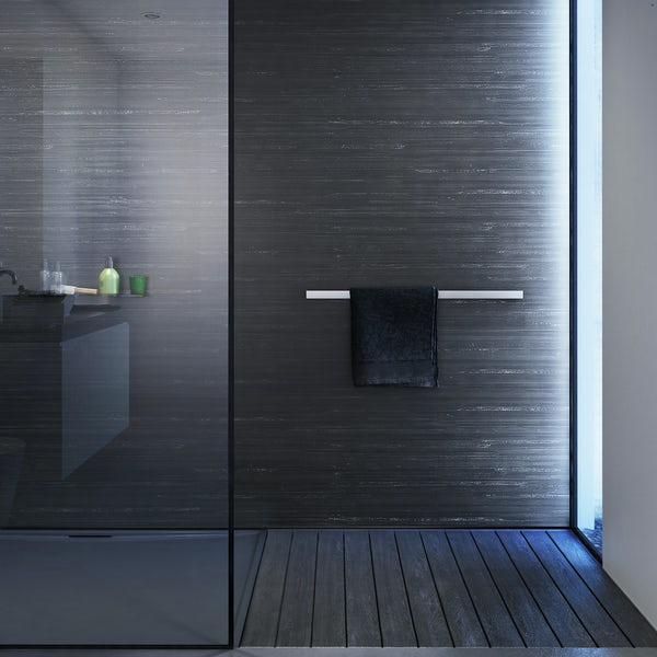 Showerwall Black Glacial waterproof shower wall panel