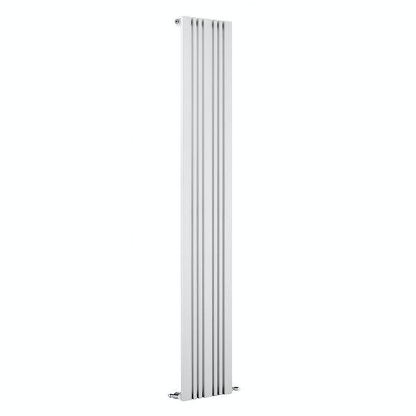 Reina Bonera white vertical steel designer radiator