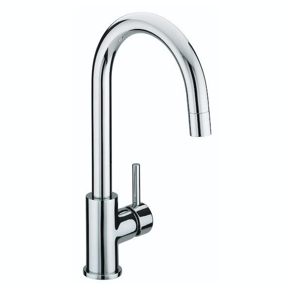 Bristan Prism single lever kitchen mixer tap