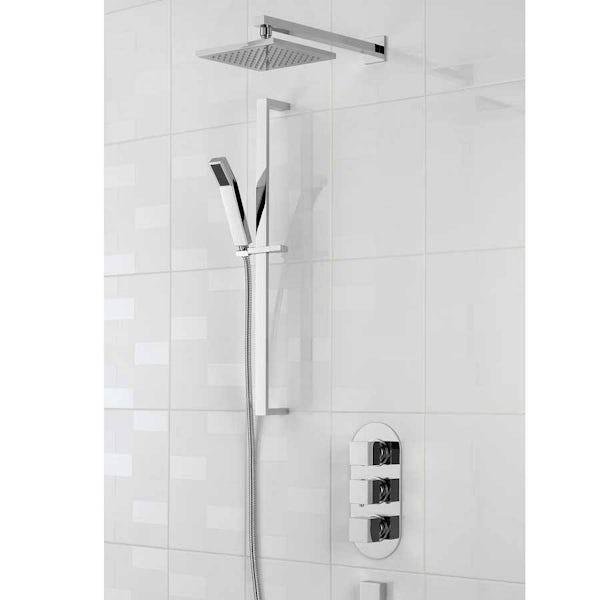 Mode Ellis oval triple thermostatic shower valve